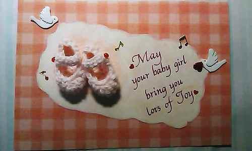 出産祝いのカード
