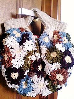 毛糸のバッグ1